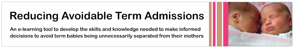 Reducing Avoidable Term Admissions_Banner
